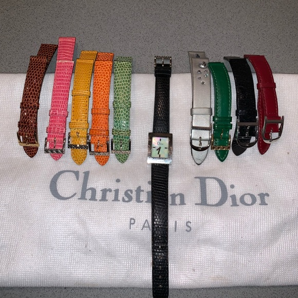 Dior Accessories - Authentic Dior watch set lizard and leather band